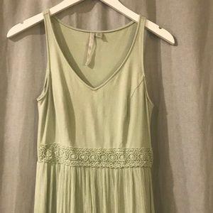 Lauren Conrad sea foam green maxi dress size XS